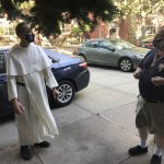 Fr. John Paul chatting with FN Mike Muttitt